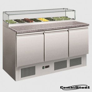 Combisteel 7450.0220 : 444 Ltr 3 Door Pizza Prep Counter