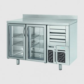 Infrico FMPP1500CR 1.5m Wide 2 Glass Door Refrigerated Counter