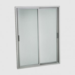 Teknodor-Sliding Silver Anodized Aluminium Retrofit Glass Chiller Doors